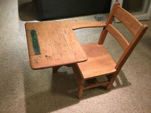 Wood Desk and chair from the 1930s