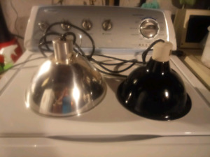 Two dome light fixtures.