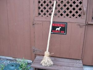 VINTAGE STRAW BROOM - HAND MADE - REDUCED!!!!