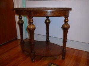 table café antique/1940 style Louis XVl acajou ronceux, ouvragée