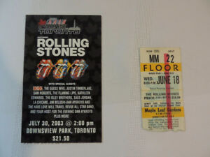 Rolling Stones Ticket Stubs