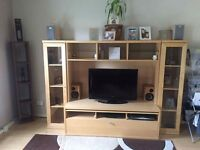 Tv unit in beechwood very good condition