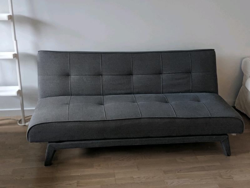 Superb Grey Double Futon Sofa Bed Excellent Condition In London Gumtree Machost Co Dining Chair Design Ideas Machostcouk