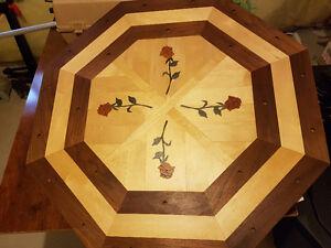 """Hardwood floor medallion 3/4"""" solid wood"""