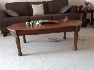 Gently Used coffee table and end tables