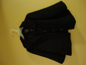Forever 21 black peacoat fall spring light jacket Small NWT