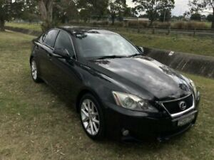 2012 Lexus IS250 GSE20R MY11 Prestige Black 6 Speed Auto Sequential Sedan Mayfield East Newcastle Area Preview