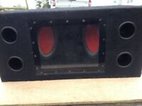 Bass box sub woofer with kenwood 528 amp