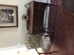 Antique dresser and chair