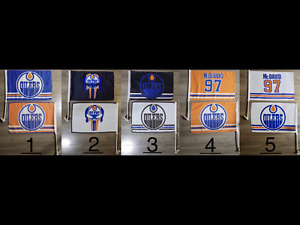 Edmonton Oilers car flags. 2 for $30 - Free Delivery.