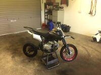 125cc pitbike running 100%