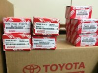 BRAND NEW GENUINE TOYOTA DEALER PARTS & OIL (Brake pad, filter)