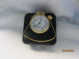 Vintage 1946 Hamilton Railroad Pocket Watch