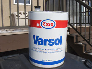 ESSO SOLVENT PAIL, 20 LITRES, METAL, SINGLE USE, VG CONDITION