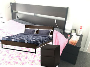 !!!【URGENT】!!!【URGENT】IKEA TRYSIL QUEEN BED FRAMES & Night stand