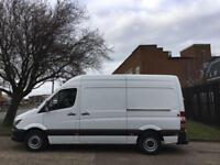 2015 15 MERCEDES-BENZ SPRINTER 2.1 313CDI MWB HIGH ROOF 130BHP NEW SHAPE. LOW 89