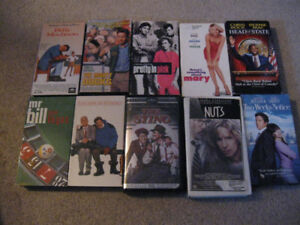 10 Comedies on VHS tape-Entire lot $5 or $1 each