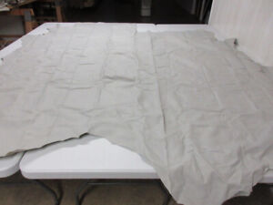 New Top Leather Cowhide hide upholstery crafts color Light Grey.