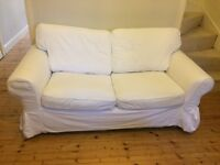 White IKEA EKTORP Two Seater Sofa
