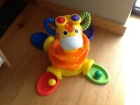 Giraffe toy with balls