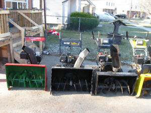 5 LARGE SNOWBLOWER ALL 10 HP. 29 OR 30 INCH CUT ALL SERVICED