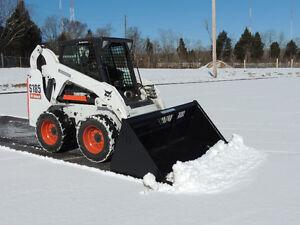 Skid steer snow buckets