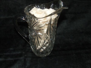 VINTAGE SMALL CRYSTAL PITCHER