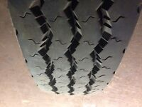 Two Michelin XZA 8r19.5 truck / motor home steer tires
