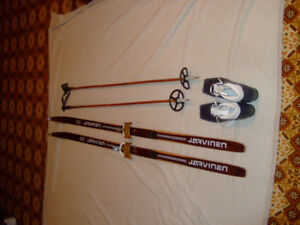 Cross country skis, poles and boots for sale.  $30 for set.