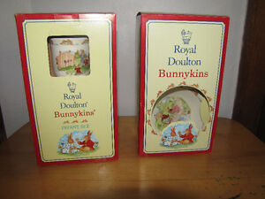 Bunnykins china and Baby blankets