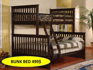 SOLID WOOD BUNK BED OR TRUNDLE BED FOR 499$ ONLY