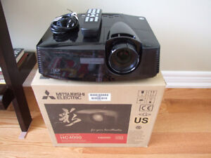 Mitsubishi HC4000 Home Theater Projector, 1080p, DLP, Low Hours