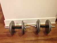 Poids Dumbbell - Total 150 lbs