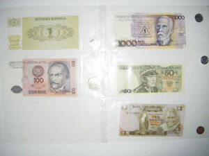 Foreign note/coin starter kit for sale