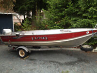 14 foot Lund WC with Honda outboard