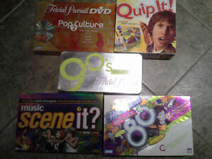 Assorted Board Games. Trivial Pursuit 80s/90s, Scene It