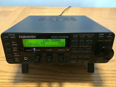 FAIRHAVEN RD500VX WIDEBAND COMMUNICATIONS RECEIVER WITH BUILT-IN DATABASE