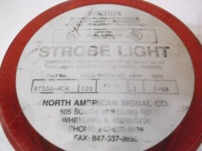 North American Signal St500-acr Strobe Light Used