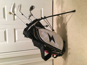 Girls left handed golf clubs with bag
