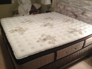Stearns and Foster brand new king mattress and box spring