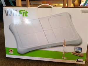 Wii Fit balance board and game