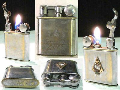 French Vintage Myon 201 Indochine War Fuel Lighter Feuerzeug No Thorens   Hw