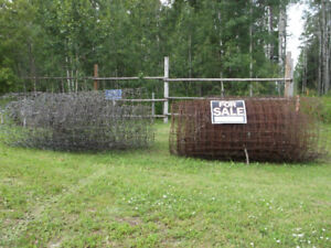 Rolls of fencing wire