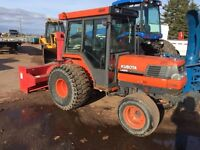 Kubota l4200 with 74'meteor blower