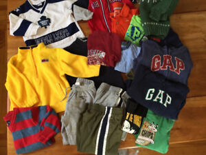 Size 24 mos-2T. Brand names (Gap, Old Navy,Maple Leafs etc.)