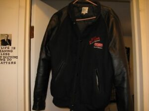 2 BOMBER STYLE  LEATHERJACKETS  HEATING,COOLING