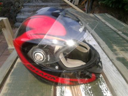 Motorbike Full Face Helmet &  Gloves