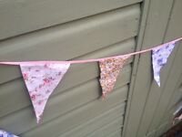 Shabby Chic Fabric Bunting- Wedding Prop