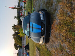 2002 Ford Mustang Blue accent stripes Coupe (2 door)