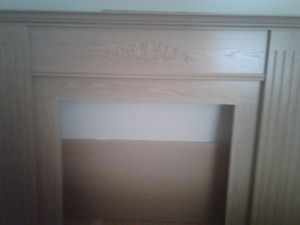 Fireplace wood mantle